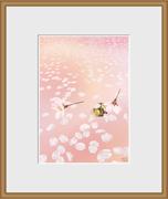 額縁イラスト【桜-お昼寝日和】