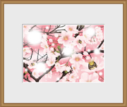 額縁イラスト【桜-ティアラな春】